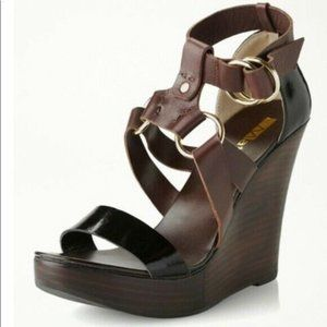 Anthropologie Matiko moira wedge sandals sz 9